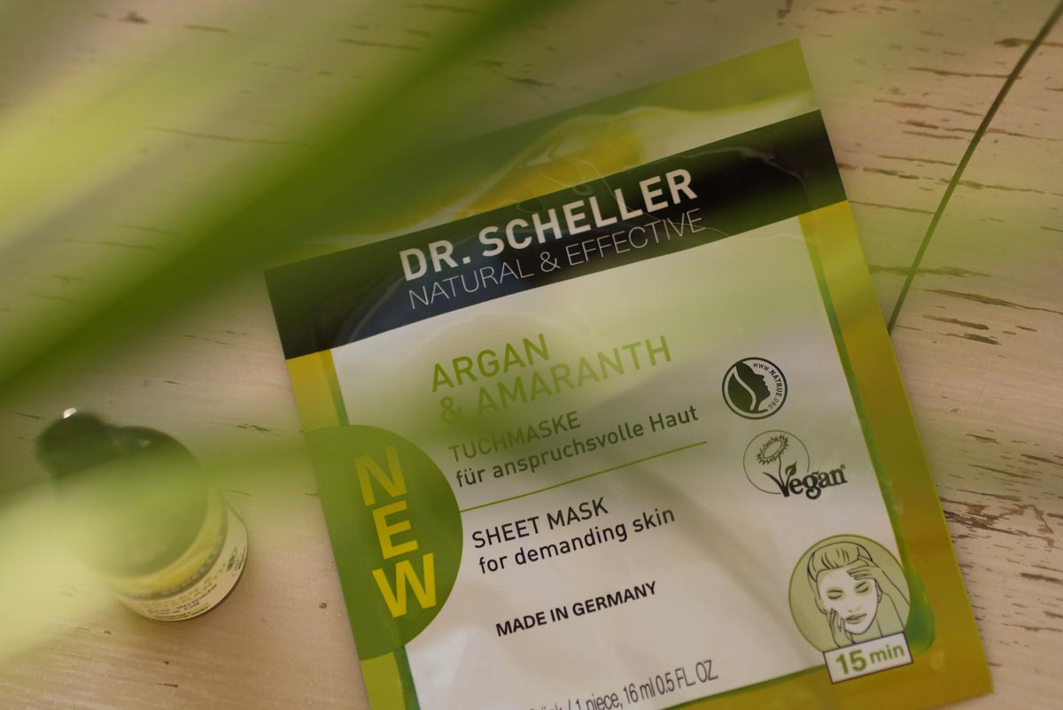 dr. scheller sheet mask