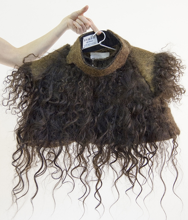 накидка из волос